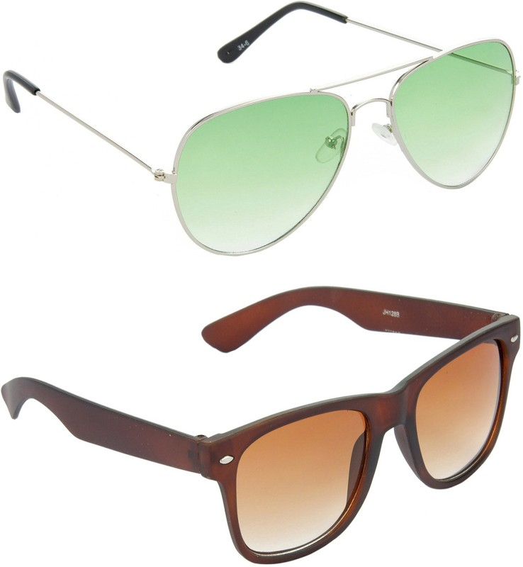 Redleaf Aviator, Wayfarer Sunglasses(Green)