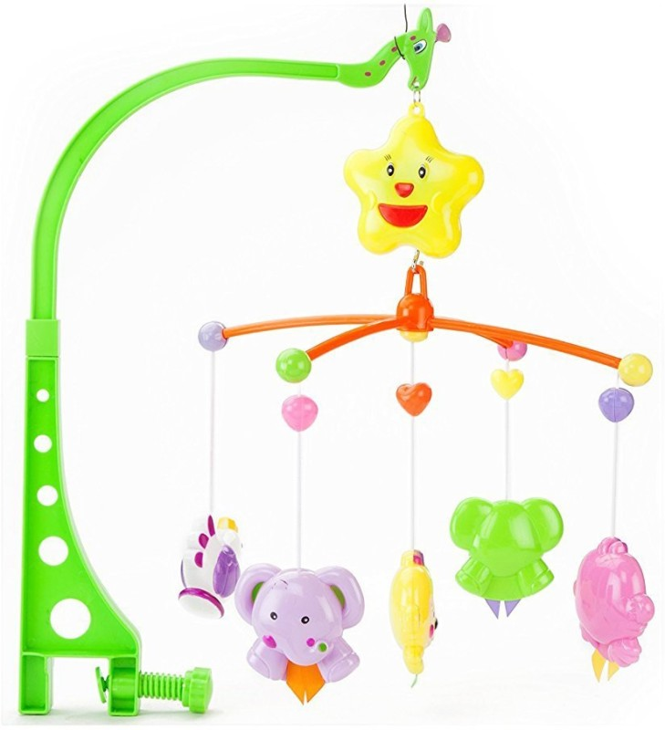 Kiditos Cuddle Cot Cradle Rattle 6 Pcs Set for Infants Toddler New Born Baby Harmonious Musical Toy(Multicolor)