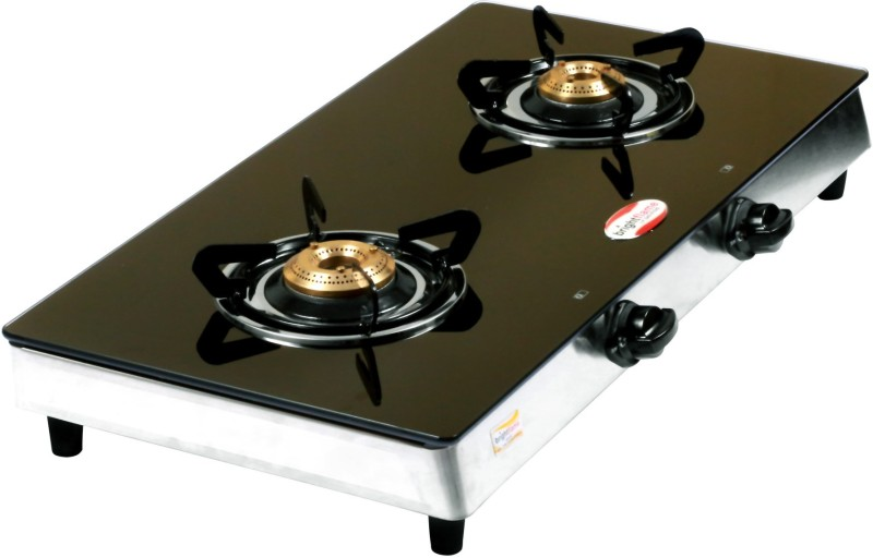 brightflame Tulip Glass Automatic Gas Stove(3 Burners)