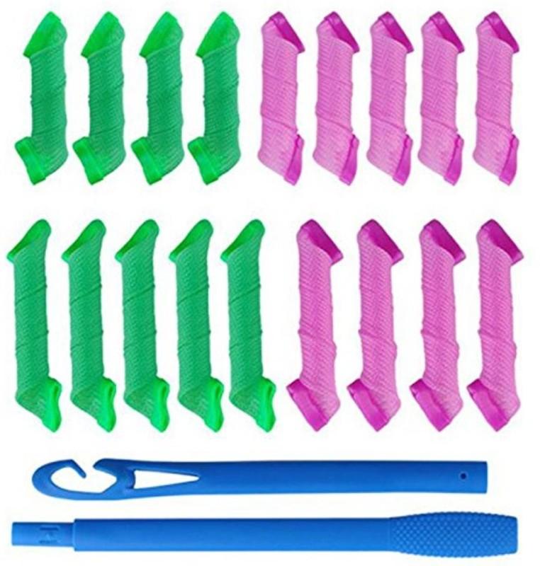 Kelley Magic Leverag As Seen On Tv Curlformers Spiral Hair Roll Curlers (18 Pcs) Hair Curler(Multicolor)