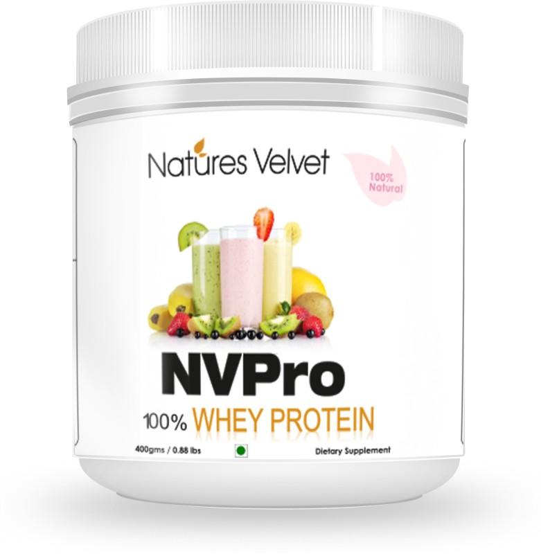 Natures Velvet Lifecare NVPRO, 400gms Whey Protein(400 g, Natural)