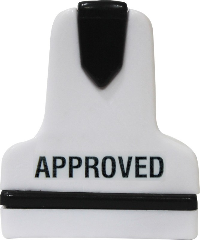 KAARTI APPROVED SK0817 Pre-Inked Rubber Stamp(Small, Black)