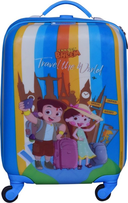 Fortune Chhota Bheem Travel the World 17Inch Kids Luggage Trolley Bag Cabin Luggage - 17 inch(Multicolor)