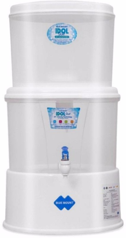 Blue Mount IDOL_STAR Gravity Based. 18 L RO Water Purifier(White)