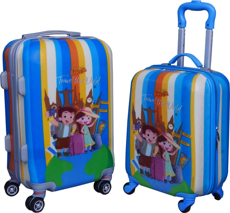Fortune Chhota Bheem Travel the World set of 17+20 InchKids Luggage trolley Bag Cabin Luggage - 17.20 inch(Multicolor)
