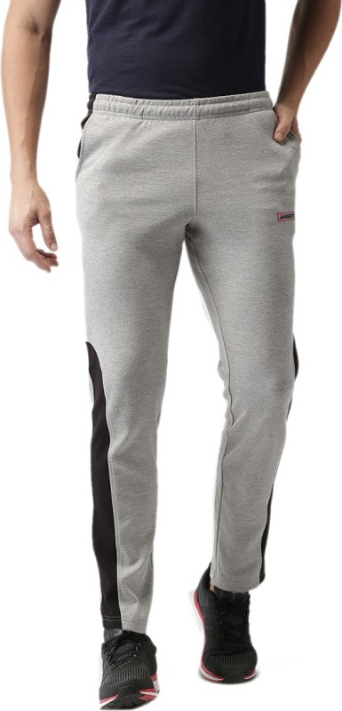 2Go Solid Men Grey, Black Track Pants