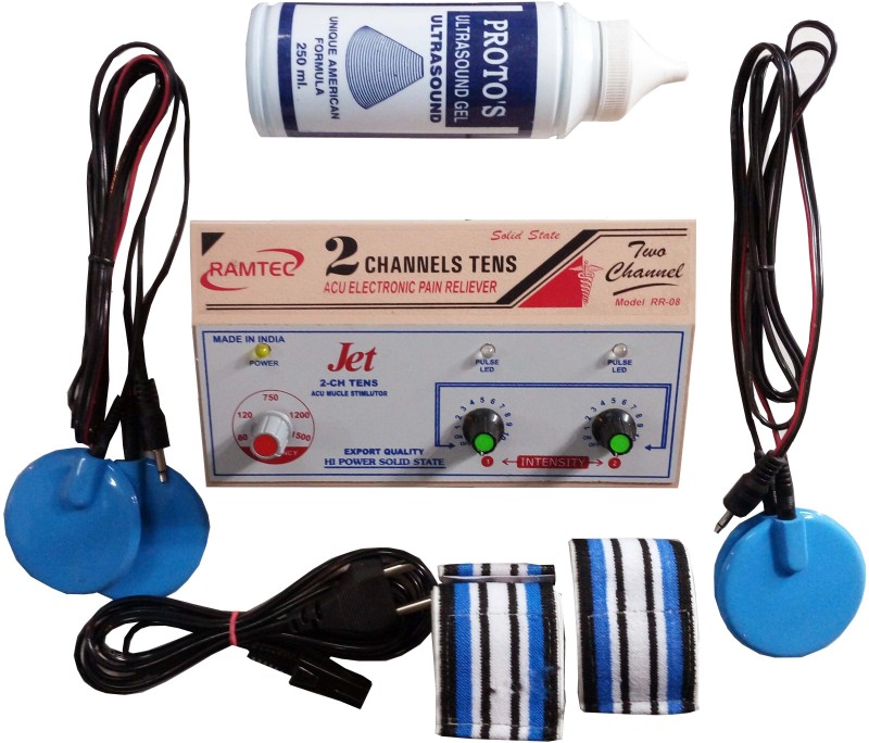 Ramtec JET 2 CHANNEL TENS Muscle Stimulator Electrotherapy Device(2CH-DUAL)