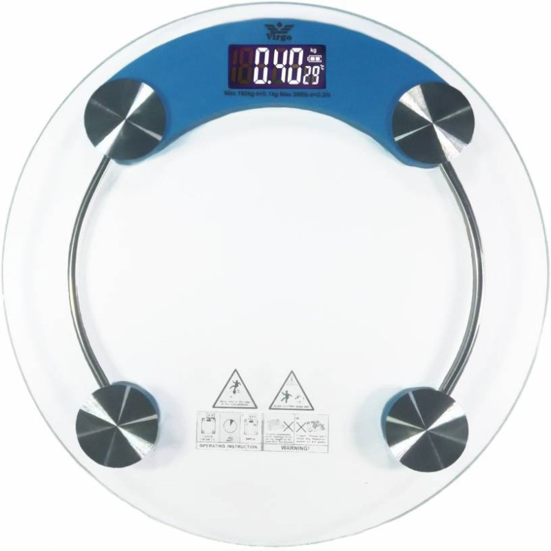 Sanaya Virgo 8 MM personal weighing scale with LED LIGHT DISPLAY AND BATTERY INDICATOR Weighing Scale(Blue, Pink)