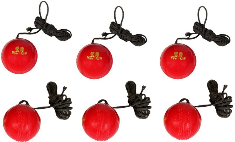 GB HANGING 6 PC Cricket Training Ball(Pack of 6, Red)
