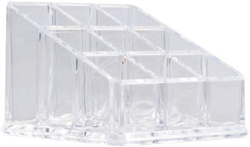 Bruzone Lipstick Holder 9 Piece D01 Lipstick Holder Vanity Box(Transparent)
