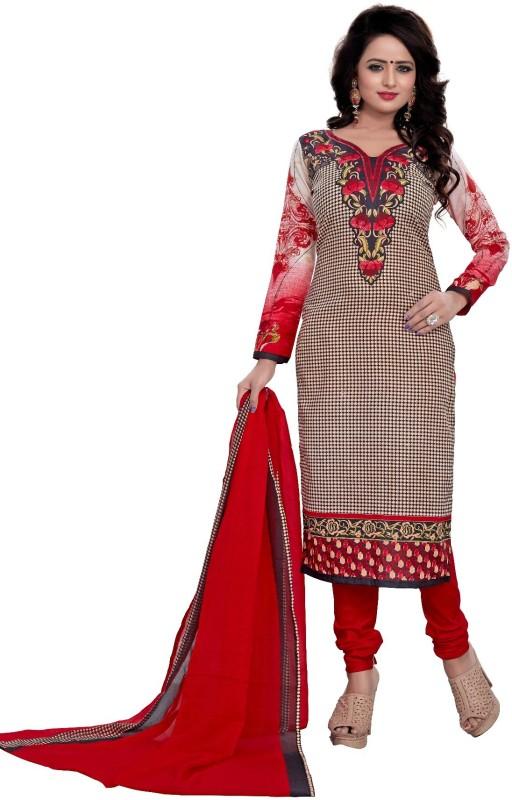 Merito Cotton Printed Salwar Suit Dupatta Material, Suit Fabric(Un-stitched)
