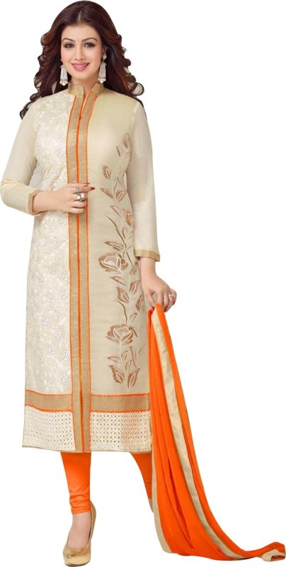Wommaniya Impex Cotton Embroidered Semi-stitched Salwar Suit Dupatta Material