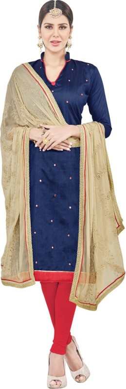 Saara Poly Silk Paisley, Embellished Salwar Suit Dupatta Material(Un-stitched)