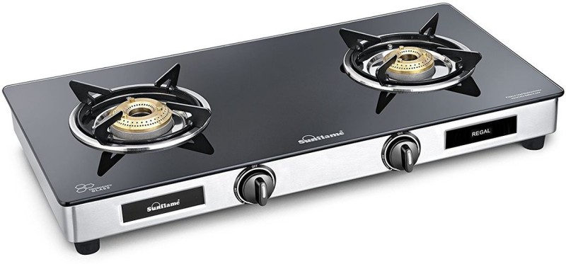 Sunflame Regal Stainless Steel Manual Gas Stove(2 Burners)