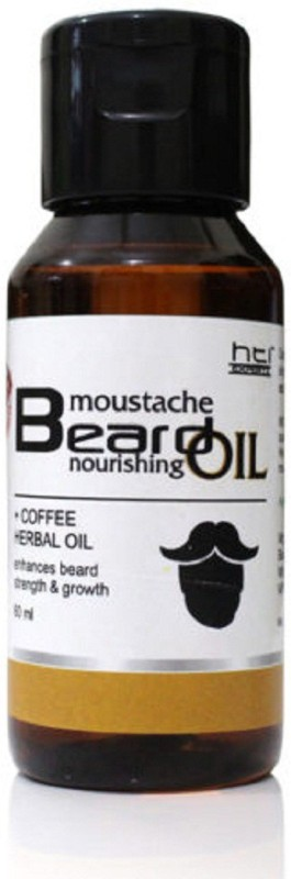 HTI NOURISHING MUSTACHE & BEARD COFFEE HERBAL ORGANIC Hair Oil(60 ml)