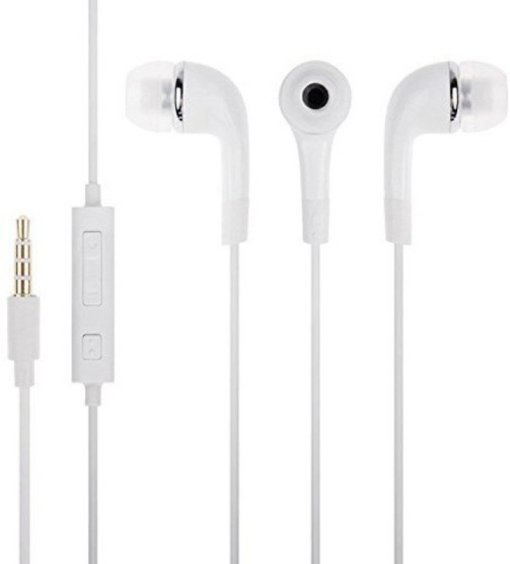 MS KING Samsung Galaxy Core Compatible Stereo Sound Handsfree Earphone (White, In the Ear) Wired Headset with Mic(White, In the Ear)