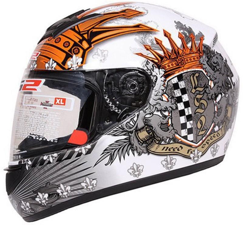 LS2 FF352-L Crown Matt White Motorbike Helmet(Matt White)