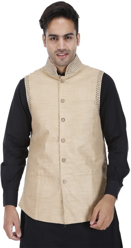 DRAP Sleeveless Embroidered Men's Nehru Jacket