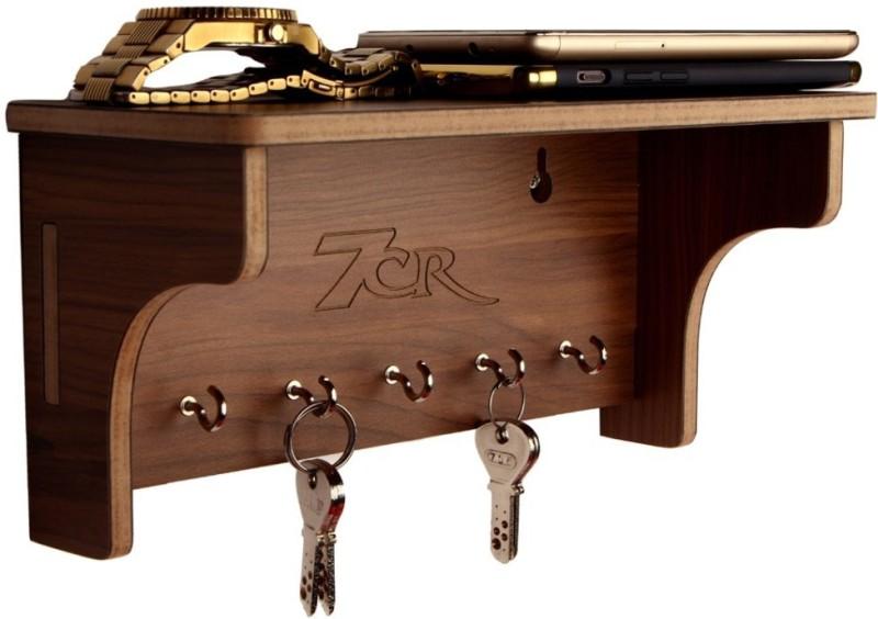 7CR MINIKH10WB Wooden Key Holder(5 Hooks, Clear)
