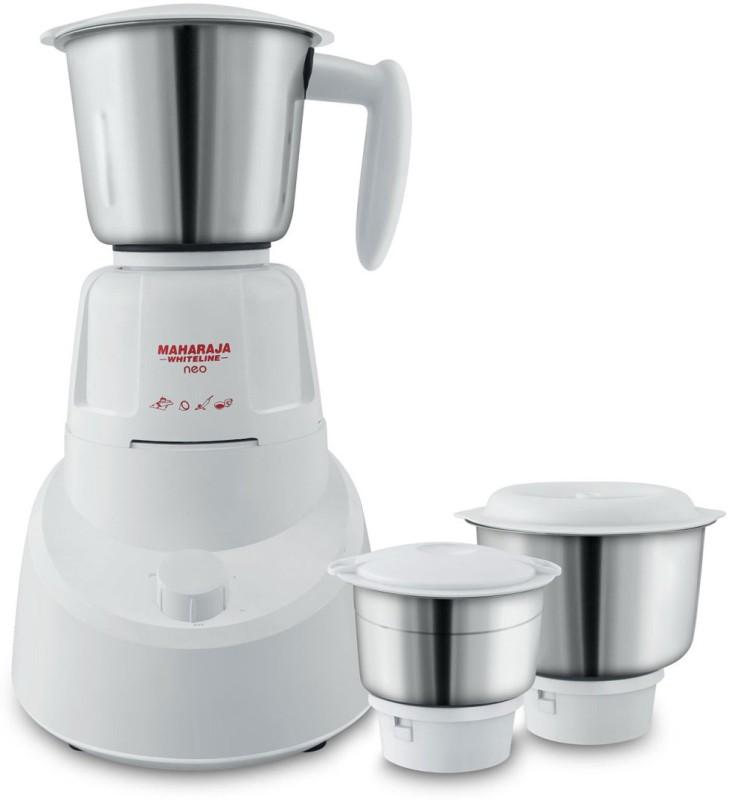 Maharaja Whiteline Neo (MX-147)/(mx-199) 500 W Mixer Grinder(White, 3 Jars)