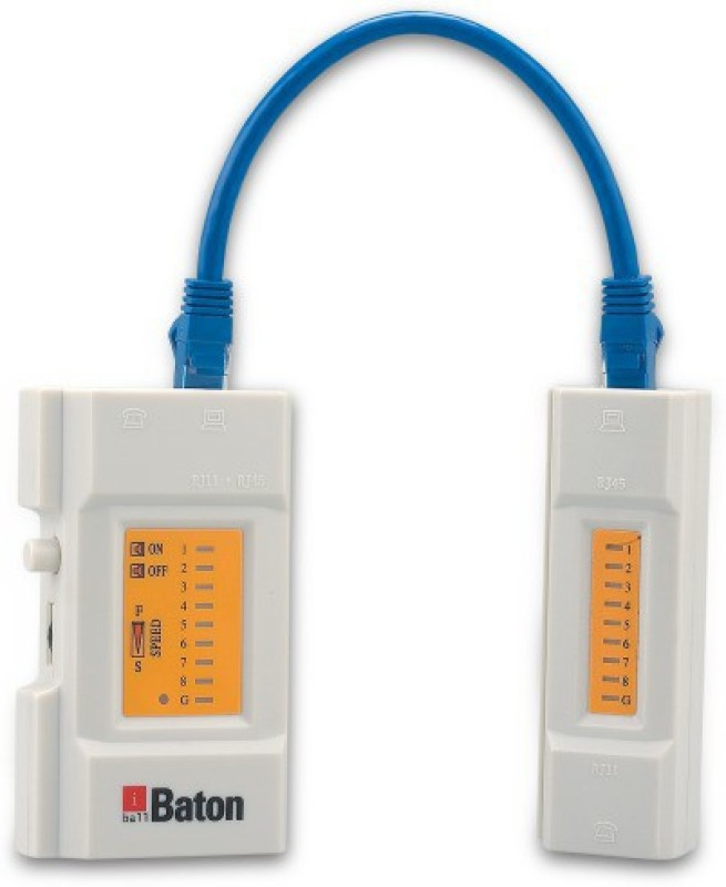 Iball Cable Tester for modular cables with RJ45 / RJ12 / RJ11 plug-White Network Interface Card(White)