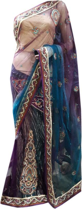 Stylish Sarees Self Design Fashion Net Saree(Multicolor)