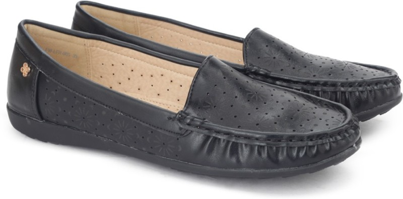 Addons Addons Black Colored Loafers Loafers For Women(Black)