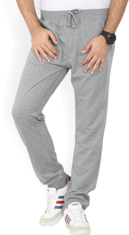 John Players Solid Mens Grey Track Pants