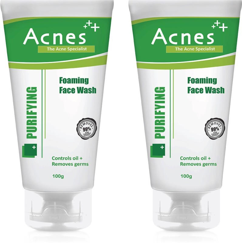 Acnes Purifying Foaming -100g (Pack of 2) Face Wash(100 g)