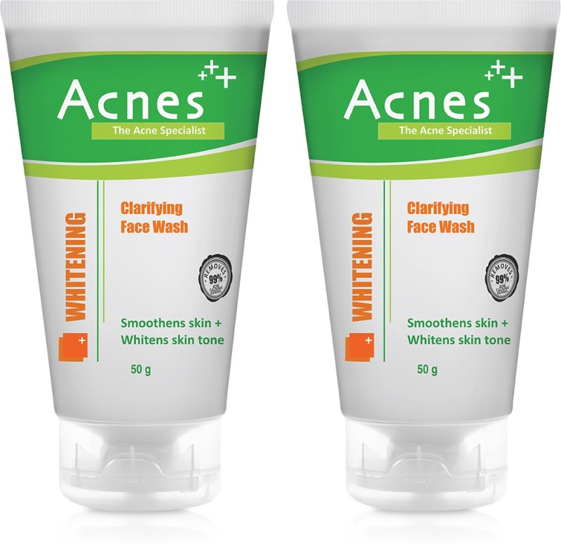Acnes Whitening Clarifying -50g (Pack of 2) Face Wash(50 g)