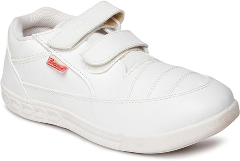 Paragon Boys Velcro Formal Boots(White)