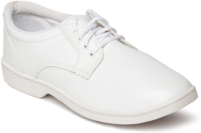 Paragon Boys Lace Formal Boots(White)