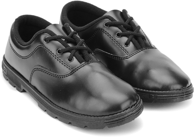 Prefect Boys Lace Walking Shoes(Black)