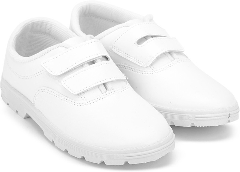 Prefect Girls Velcro Walking Shoes(White)