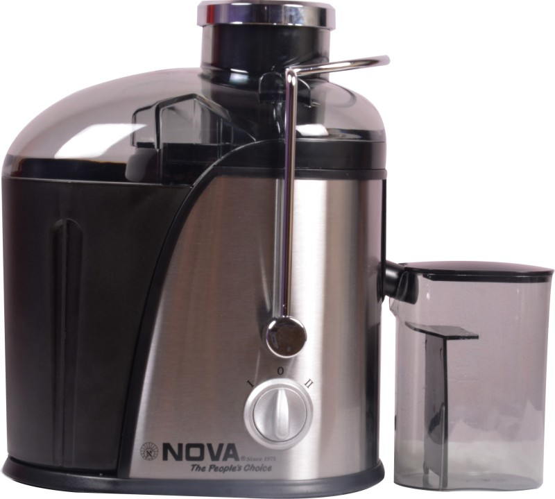 Nova NJE-2503 400 W Juicer(Silver, Black, 1 Jar)
