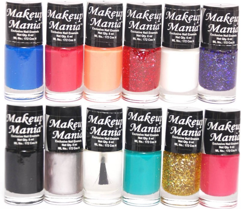 Makeup Mania Exclusive Nail Polish Set of 12 Pcs. Multicolor MM-90(Pack of 12)