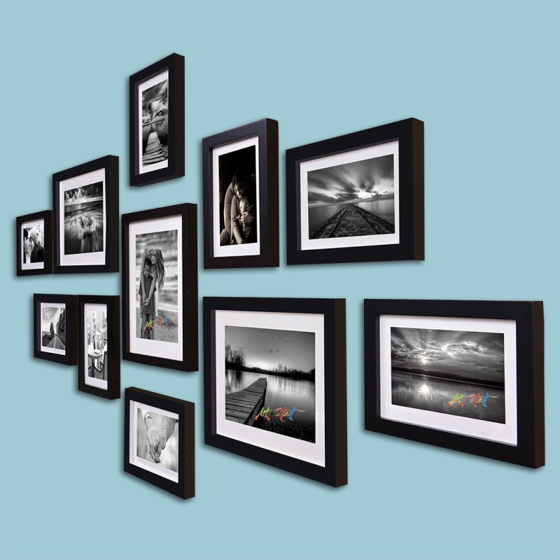 Painting Mantra Generic Photo Frame(Black, 11 Photos)