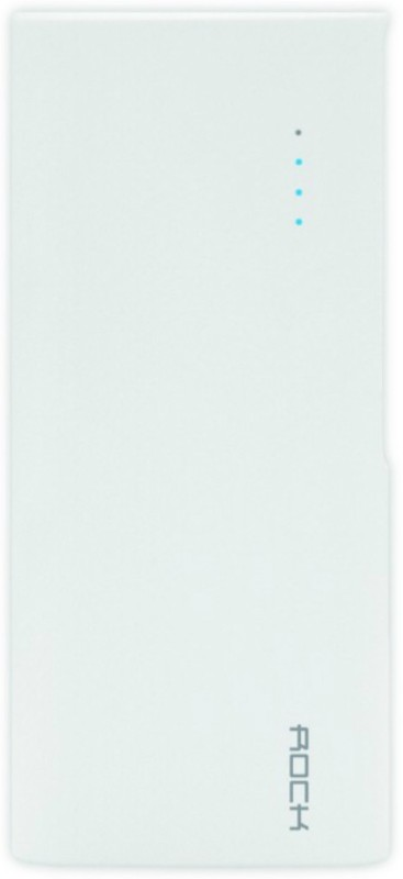 Rock ITP-105 10000 mAh Power Bank(White, Lithium-ion)