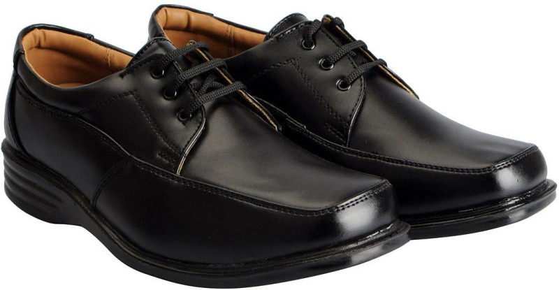 Action Mens Black Formal Lace Up, Derby(Black)