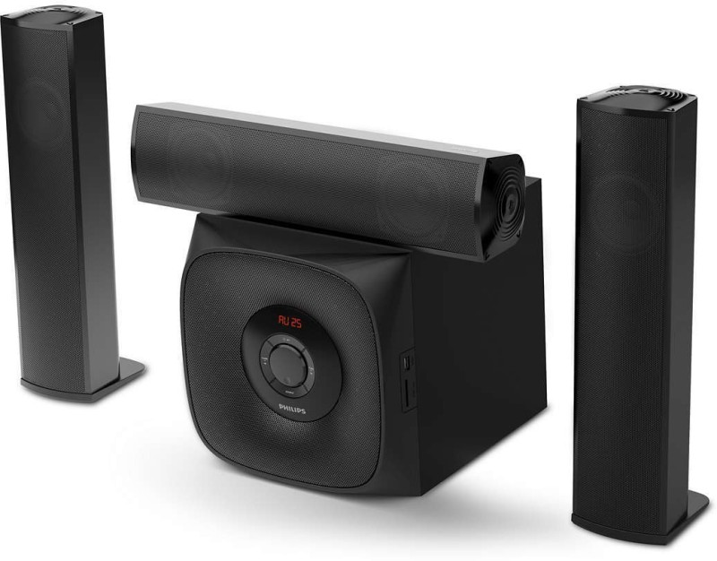 Philips MMS3160B/94 60 W Bluetooth Home Theatre(Black, 3.1 Channel)