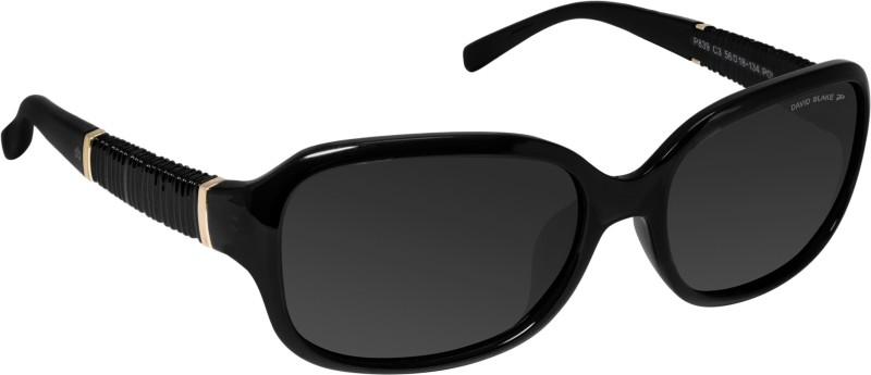 David Blake Oval Sunglasses(Black) image