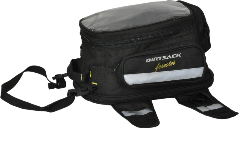 Dirtsack One-side Black Fabric Motorbike Saddlebag(16 L)