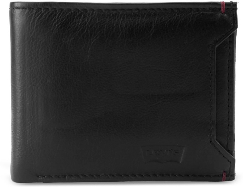 Levis Men Formal, Casual Black Genuine Leather Wallet(8 Card Slots)