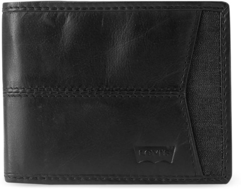 Levi's Men Black Genuine Leather Wallet(8 Card Slots)