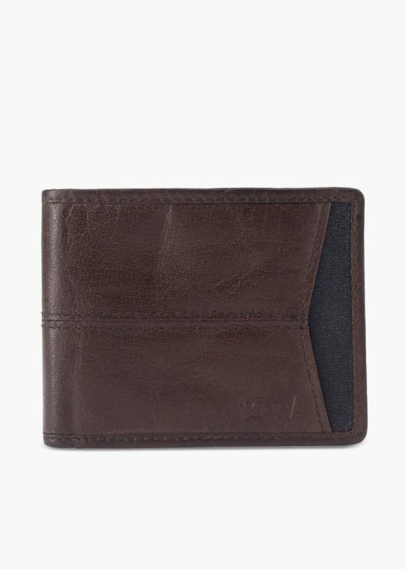 Levi's Men Brown Genuine Leather Wallet(8 Card Slots)