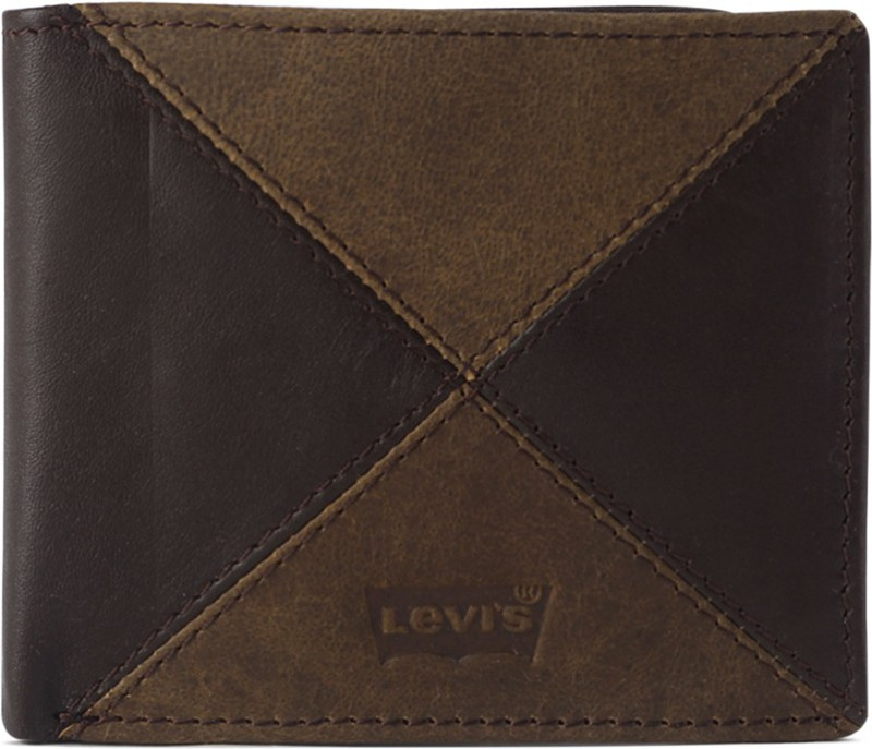 Levi's Men Brown Genuine Leather Wallet(8 Card Slots)