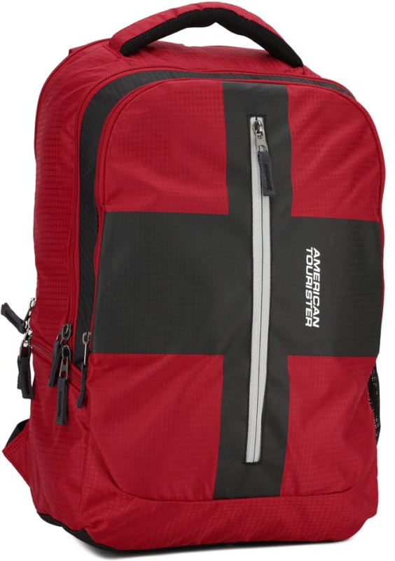American Tourister AMT Juke 21 L Laptop Backpack(Red, Black)