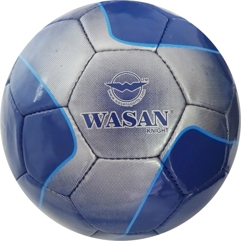 Wasan Knight Football - Size: 5(Pack of 1, Blue)