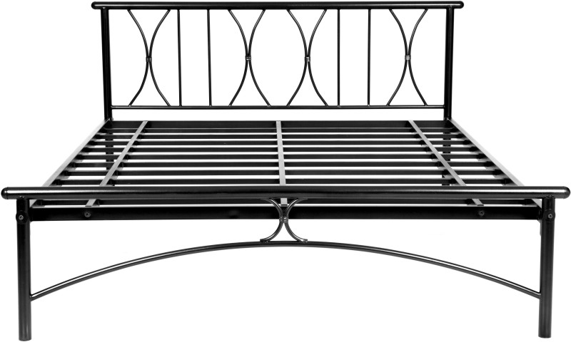 FurnitureKraft Washington Metal King Bed(Finish Color - Black)