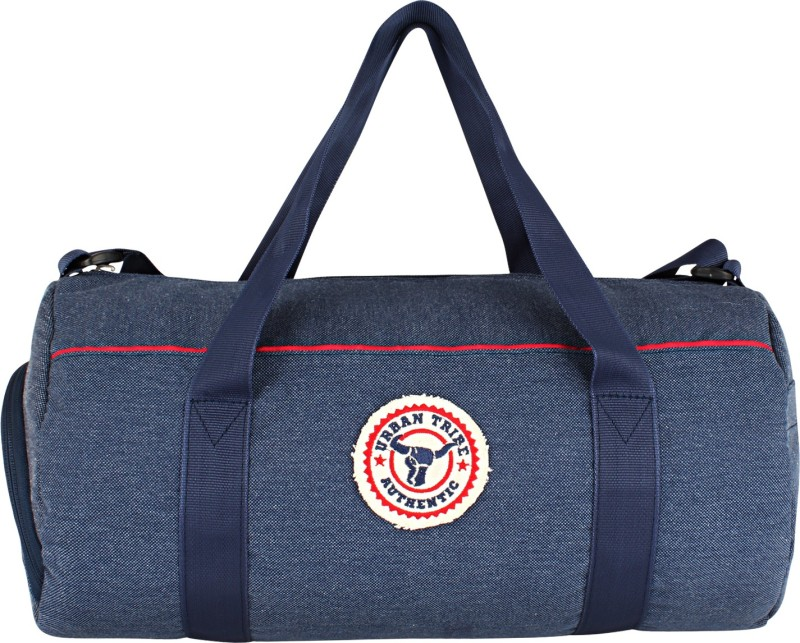 Urban Tribe Barrel Indigo Authentic Shoe Compartment Gym Bag(Blue)